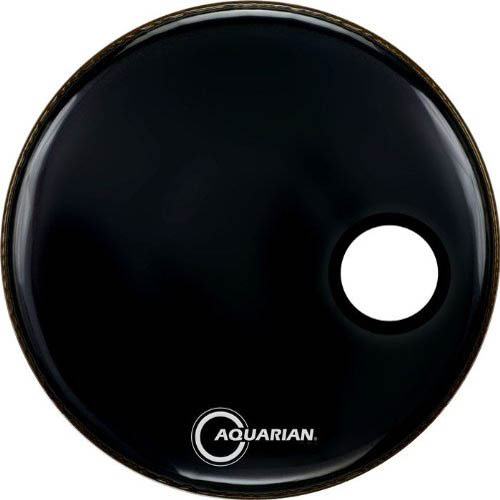 "Aquarian 16"" Regulator Side-Ported Black Resonant Bass Head"