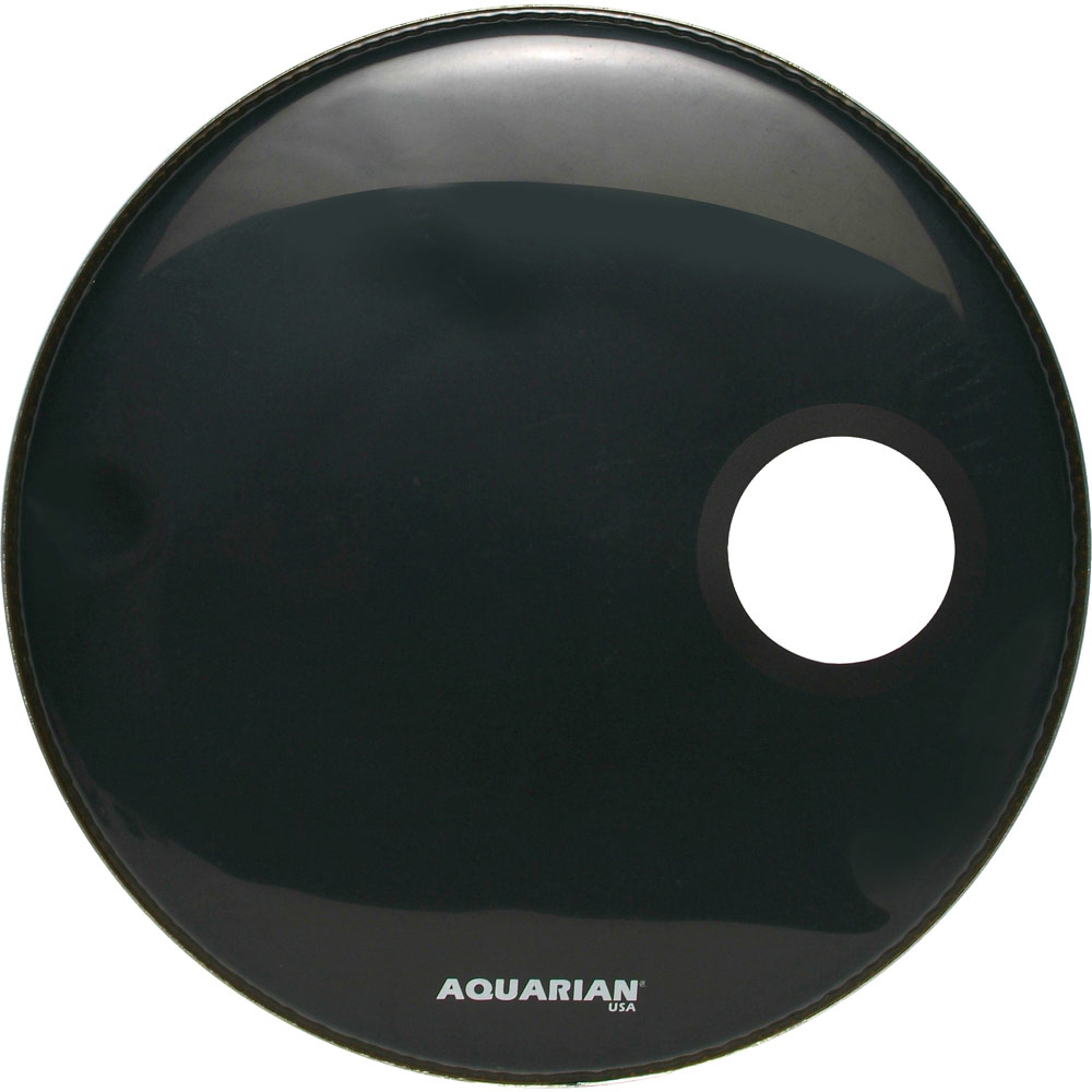 "Aquarian 24"" Regulator Side-Ported Black Resonant Bass Head"