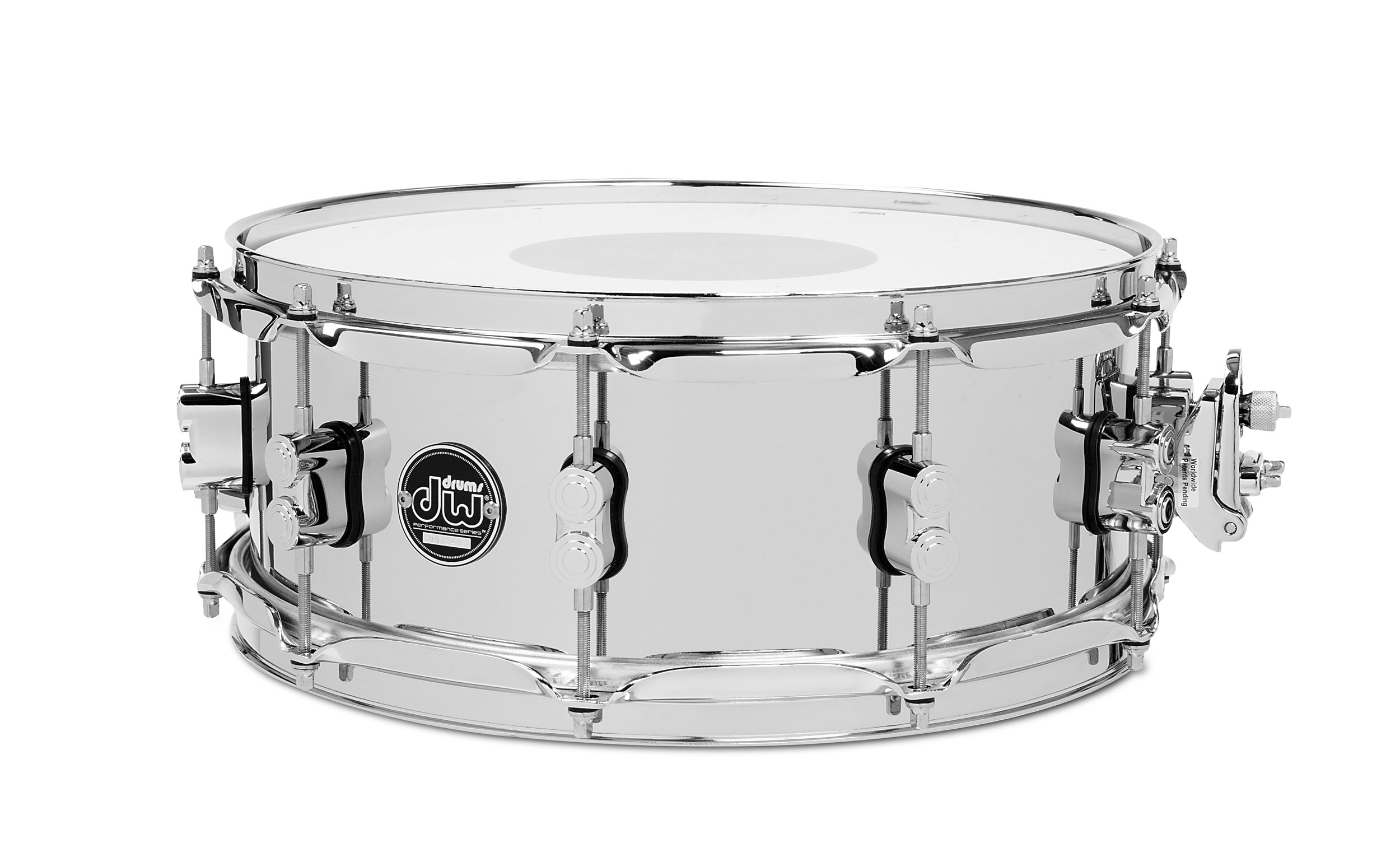 "DW 5.5"" x 14"" Performance Series Chrome Over Steel Snare Drum"