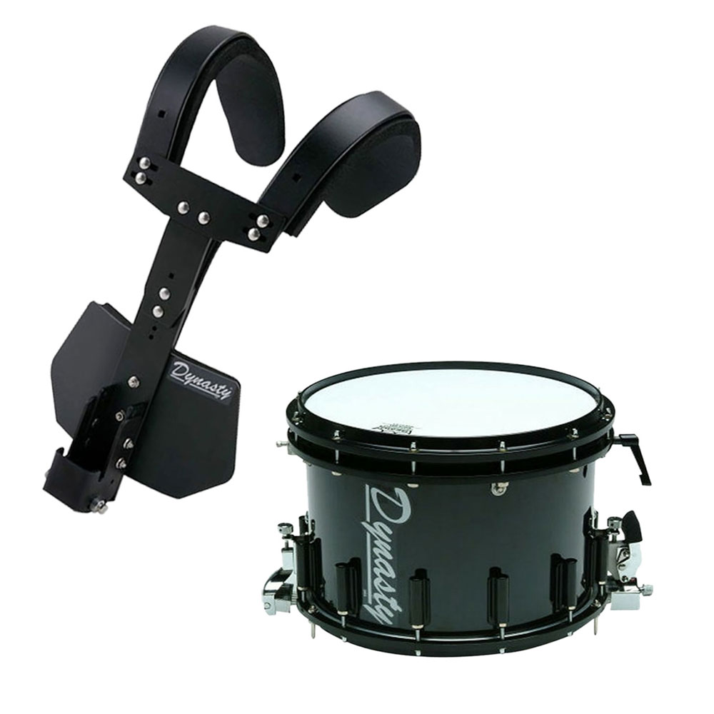 dynasty 14 x 10 dfx double snare t max carrier marching snare drum bundle ms xdst14m. Black Bedroom Furniture Sets. Home Design Ideas