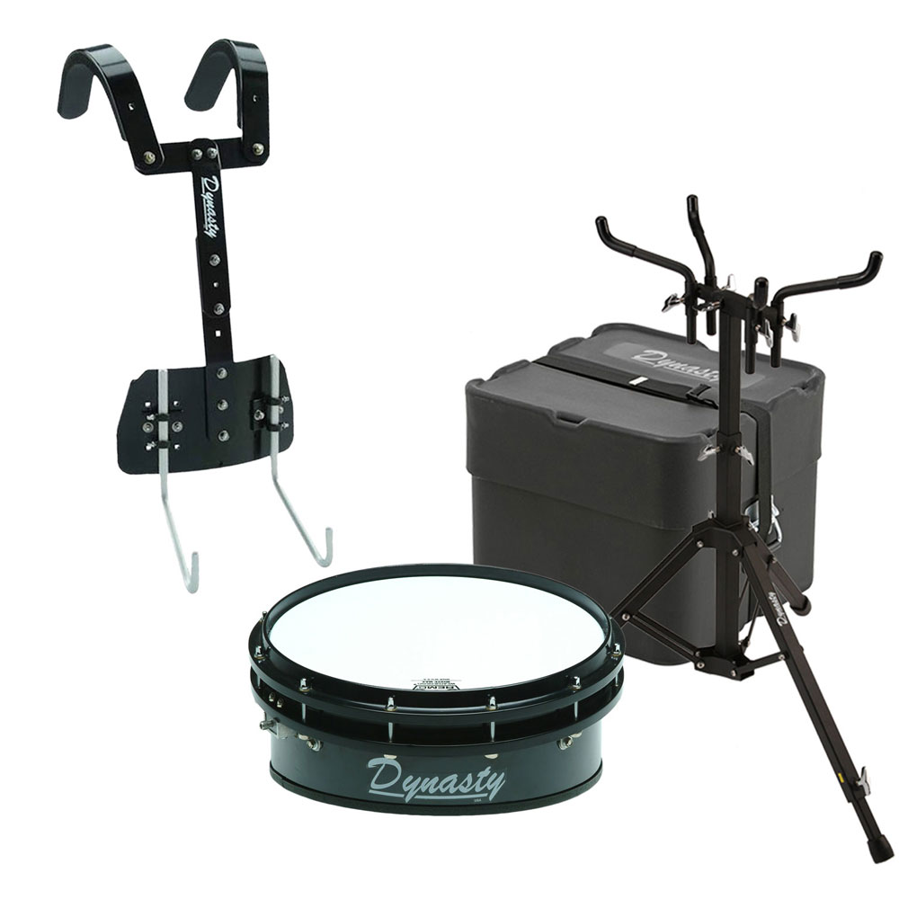 dynasty 14 dfx wedge drum t bar carrier case stand marching snare drum bundle ms xw14tcs. Black Bedroom Furniture Sets. Home Design Ideas