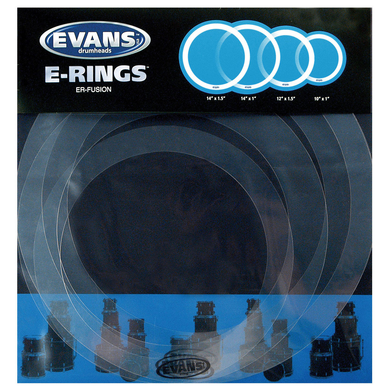 "Evans E-Ring 10-12-14 14"" Fusion Pack"
