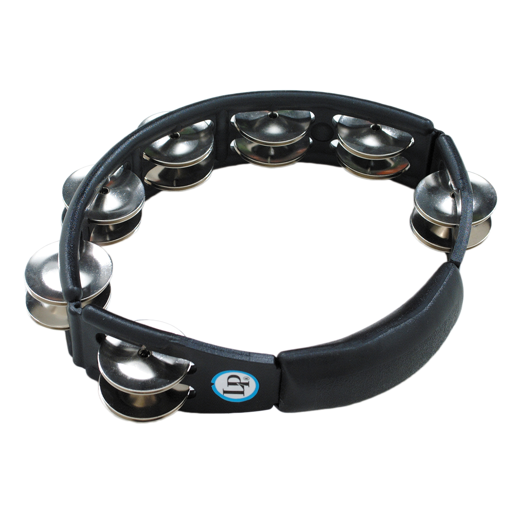 LP Black Cyclops Double Row Steel Tambourine