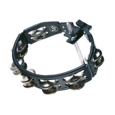 LP Mountable Black Cyclops Double Row Steel Tambourine