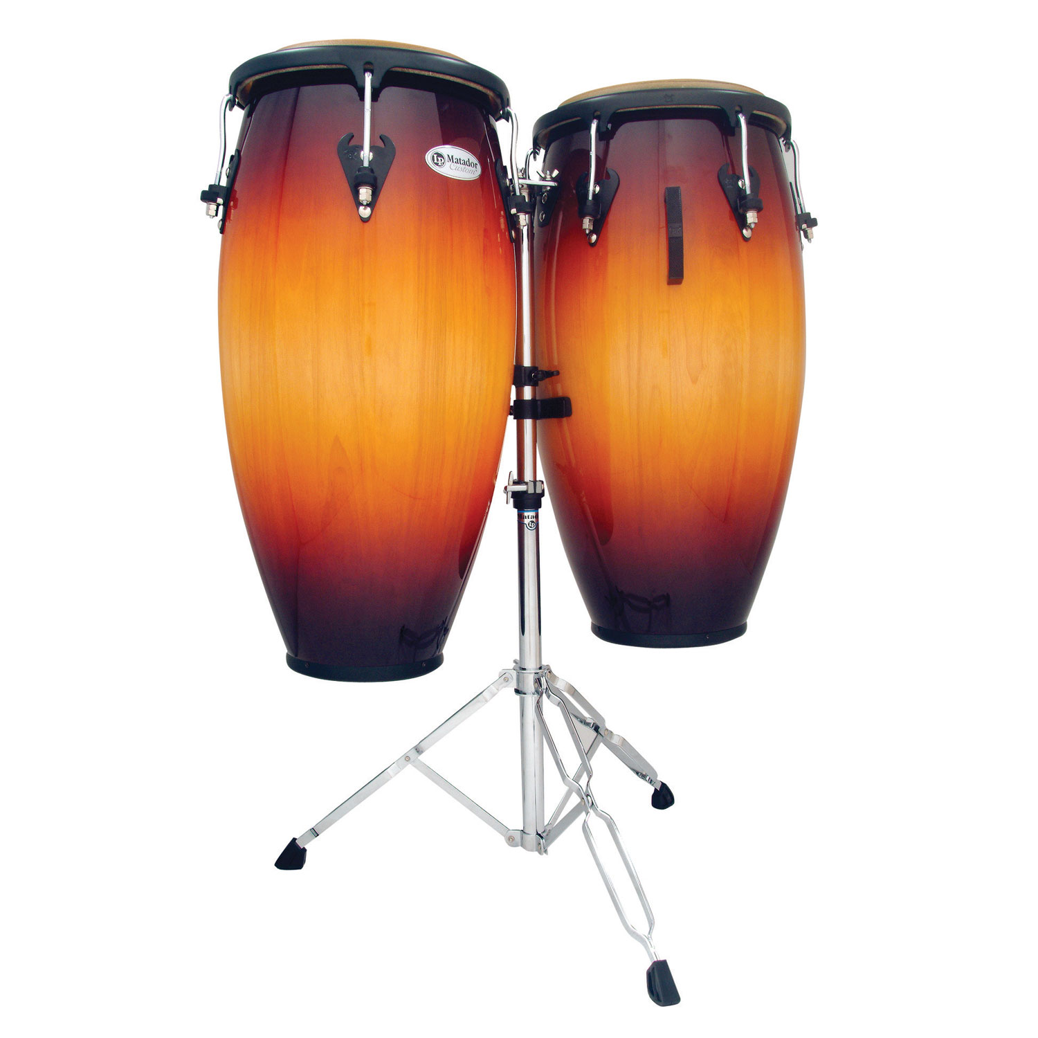"LP 11"" & 11.75"" Matador Custom Wood Conga Set in Vintage Sunburst with Stand"