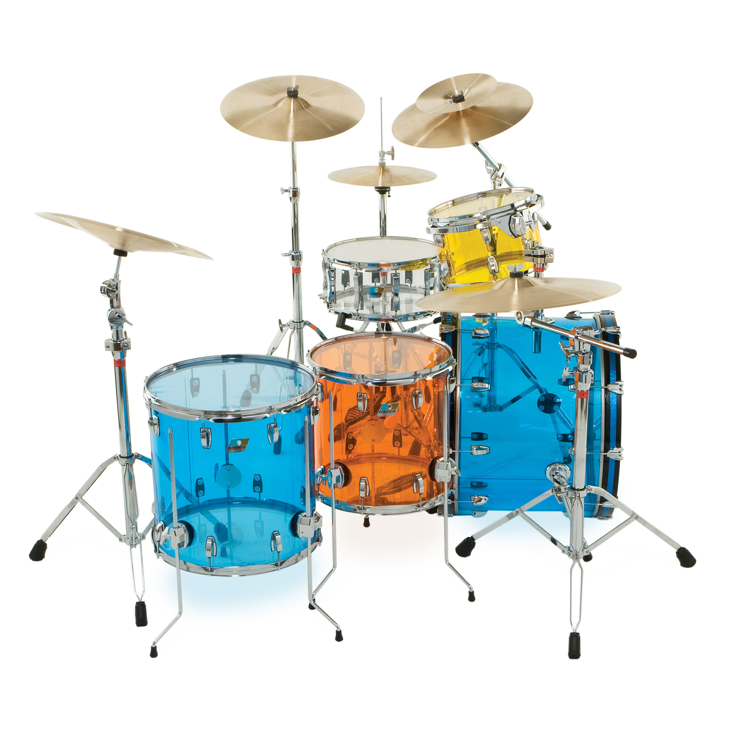"Ludwig Vistalite Big Beat 5-Piece Drum Set Shell Pack (22"" Bass, 12/13/16"" Toms, 14"" Snare)"
