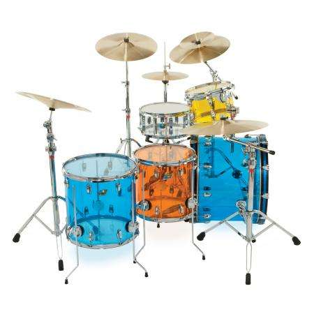 Ludwig Vistalite Big Beat 5-Piece Drum Set Shell Pack (22