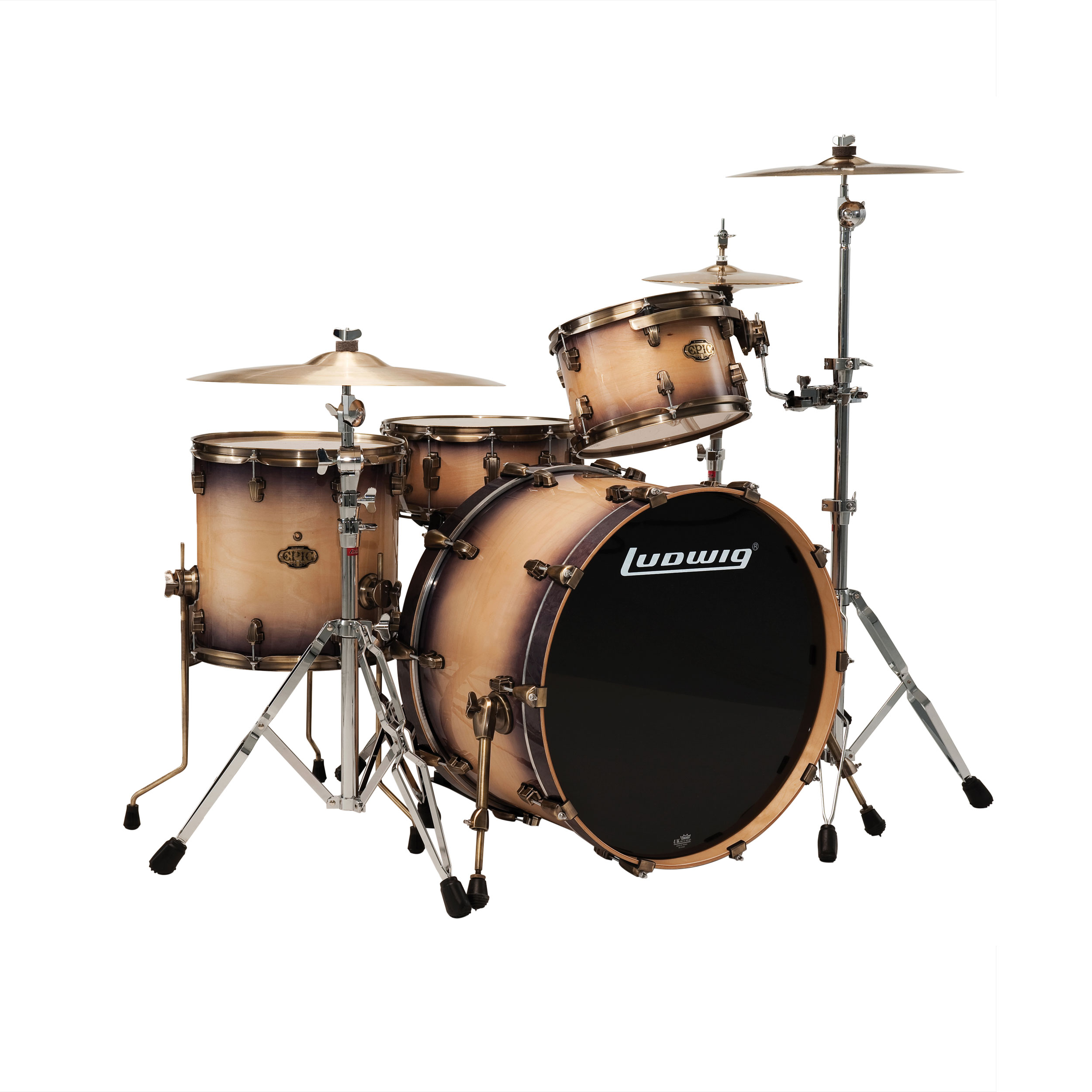 ludwig epic series standard 4 piece drum set shell pack 20 bass 14 snare 12 14 toms. Black Bedroom Furniture Sets. Home Design Ideas
