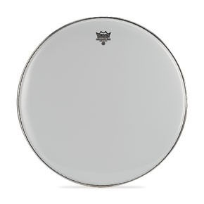 "Remo 14"" Emperor Smooth White Crimplock Marching Bass Drum Head"