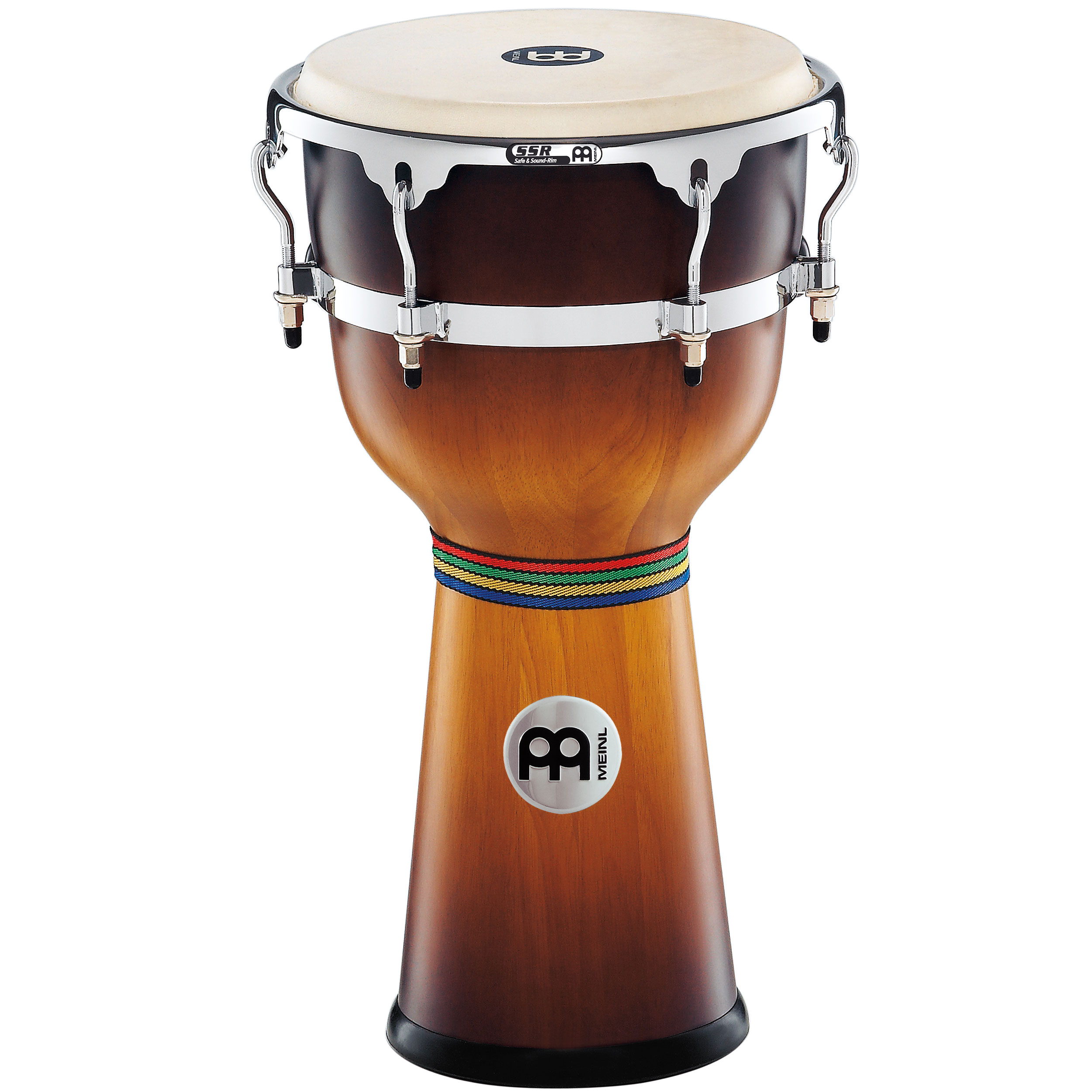 "Meinl 12"" x 24 1/4"" Floatune Wood Djembe in Gold Amber Sunburst"