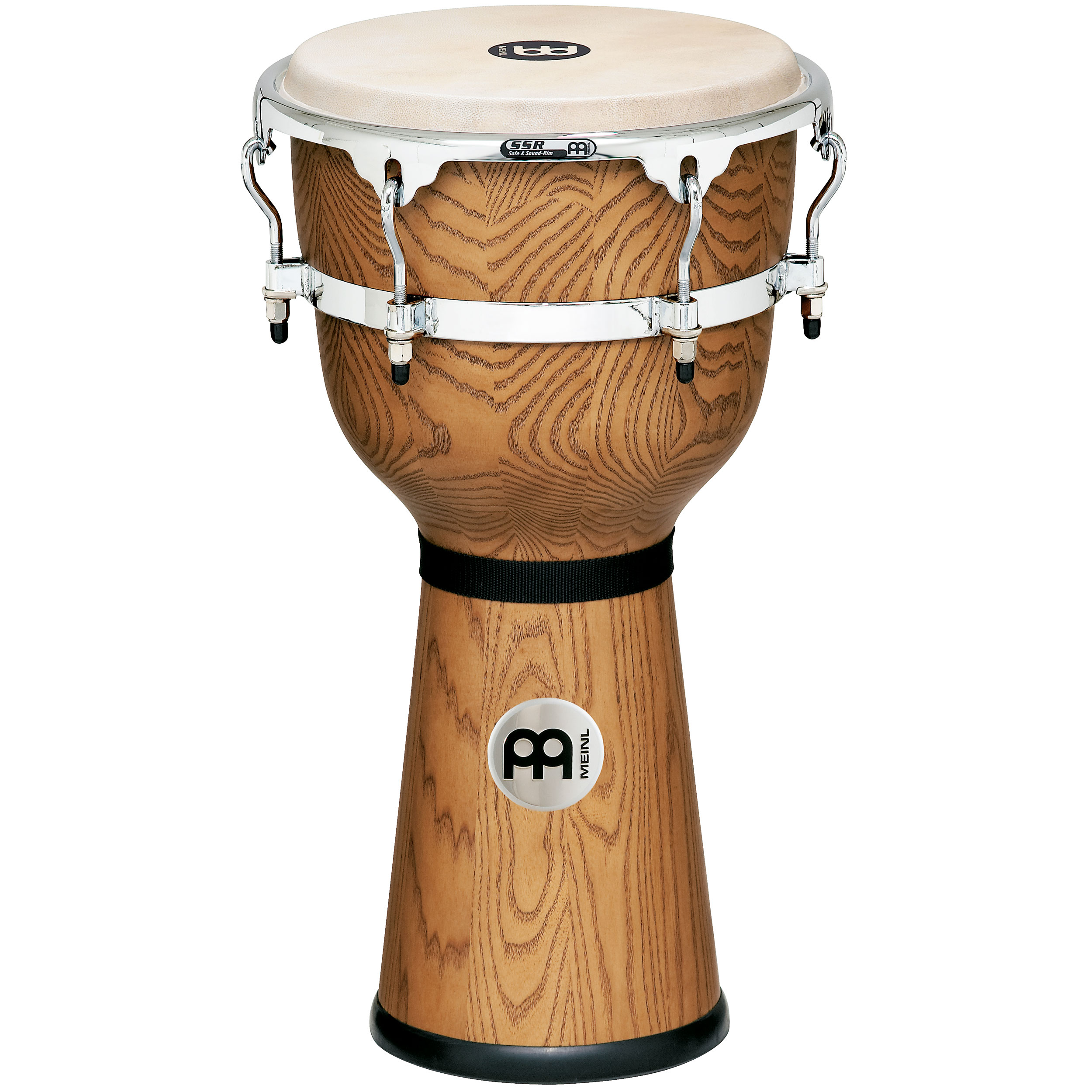 "Meinl 12"" x 24 1/4"" Floatune Wood Djembe in Zebra Finished Ash"