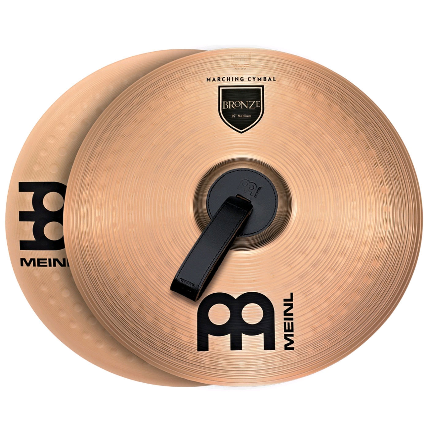 "Meinl 13"" Medium Brass Student Marching Cymbals Pair"