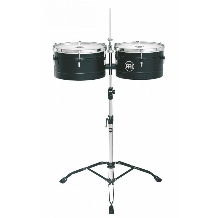 "Meinl 14/15"" Marathon Black Powder-Coated Steel Timbales"