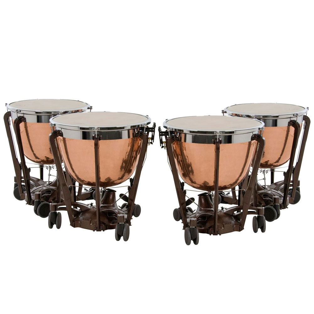 "Adams 23/26/29/32"" Professional Gen II Hammered Cambered Copper Timpani"