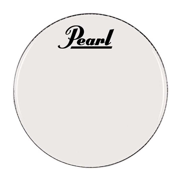 "Pearl/Remo 20"" Smooth White Ambassador Marching Bass Head"