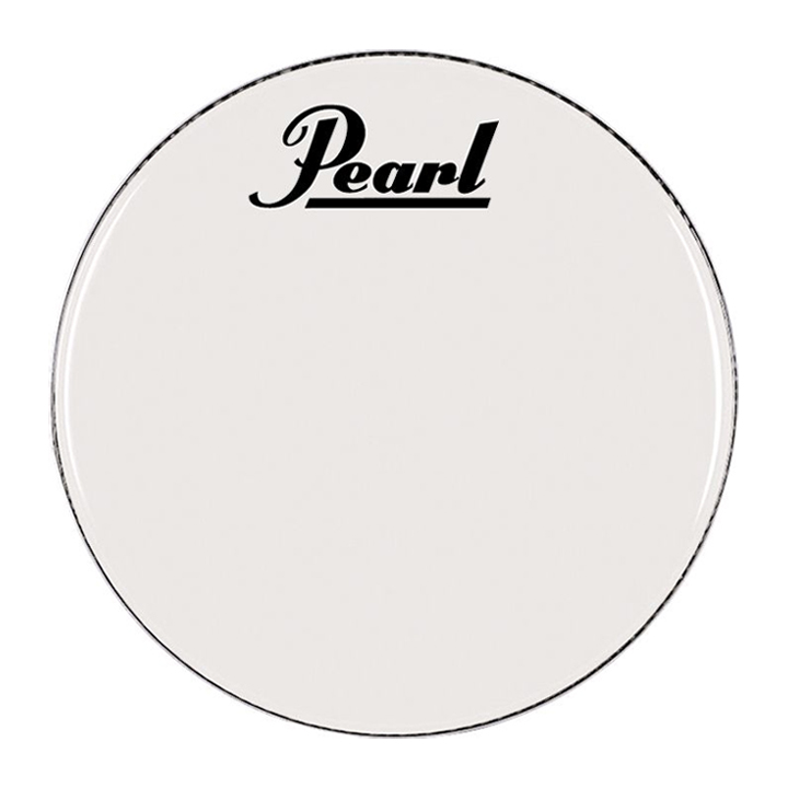 "Pearl/Remo 22"" Smooth White Ambassador Marching Bass Head"