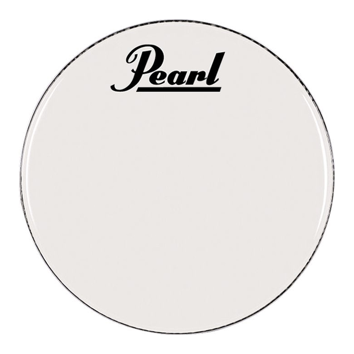 "Pearl/Remo 24"" Smooth White Ambassador Marching Bass Head"