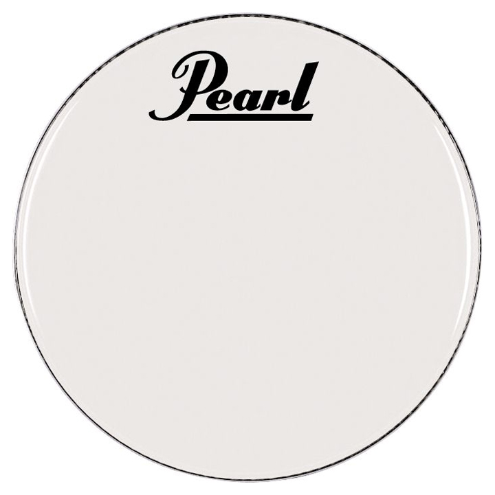 "Pearl/Remo 30"" Smooth White Ambassador Marching Bass Head"
