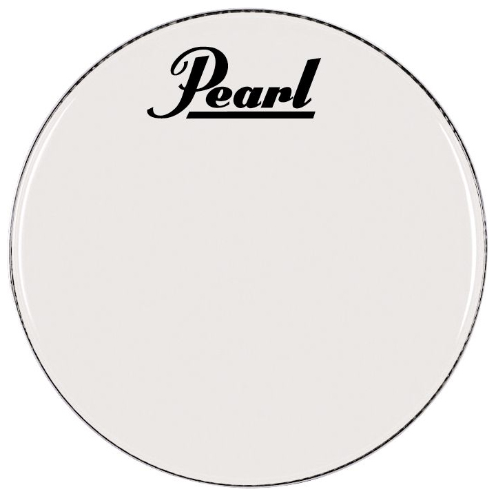 "Pearl/Remo 32"" Smooth White Ambassador Marching Bass Head"