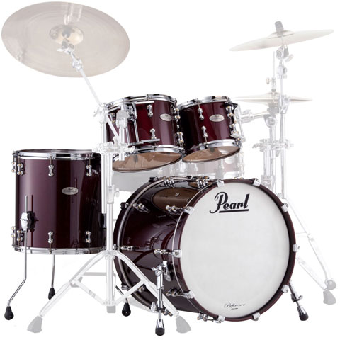 "Pearl Reference Pure 4-Piece Drum Set Shell Pack (20"" Bass, 10/12/14"" Toms)"