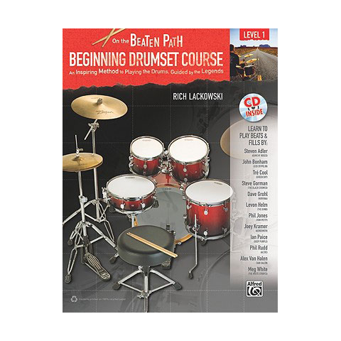 On the Beaten Path: Beginning Drum Set Course - Level 1 by Rich Lackowski
