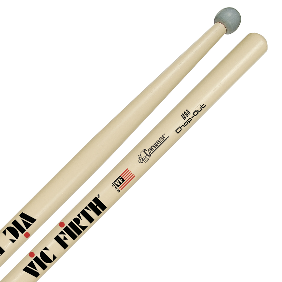 Vic Firth MS6CO Corpsmaster Chop-Out Practice Sticks