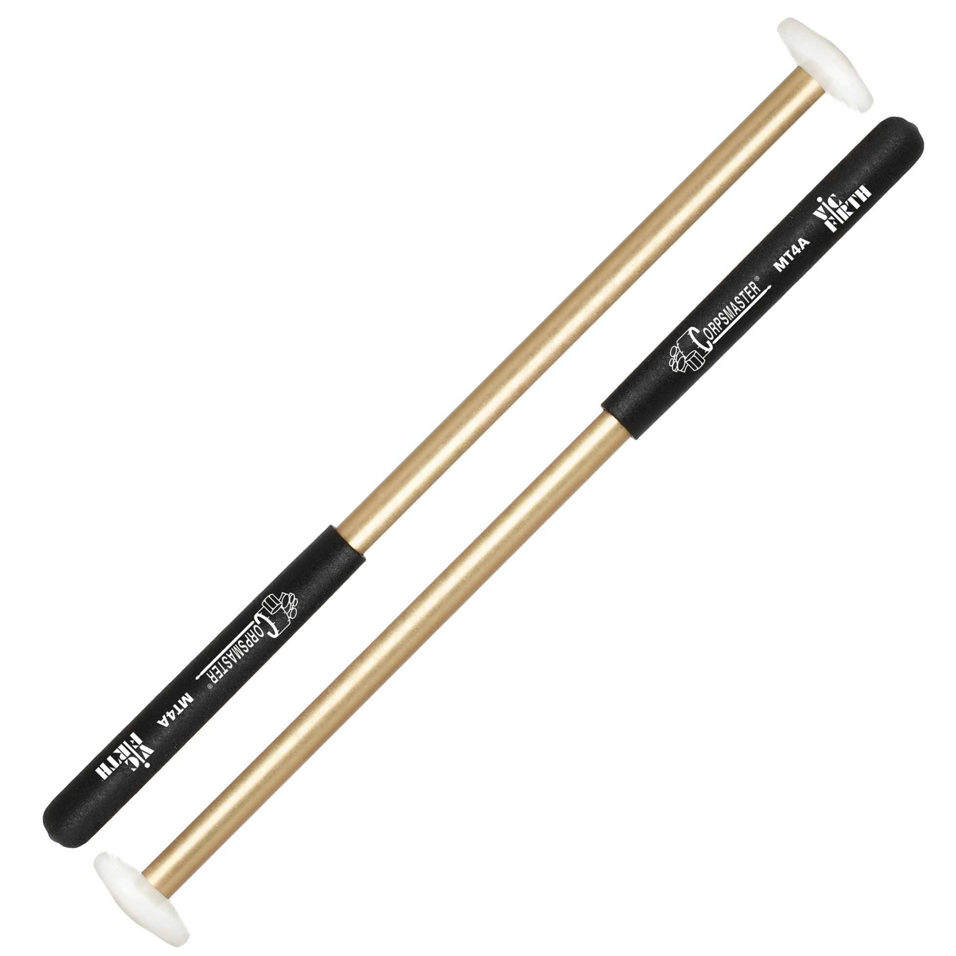 vic firth mt4a corpsmaster nylon cartwheel marching tenor mallets mt4a. Black Bedroom Furniture Sets. Home Design Ideas