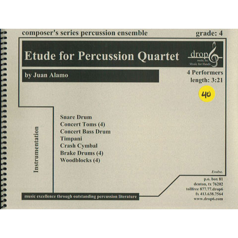Etude for Percussion Quartet by Juan Alamo