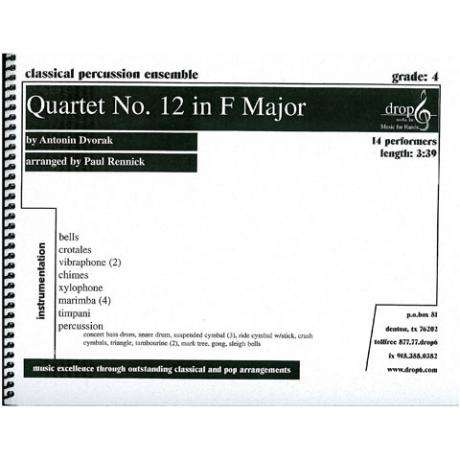 Quartet No. 12 in F Major by Dvorak arr. Paul Rennick