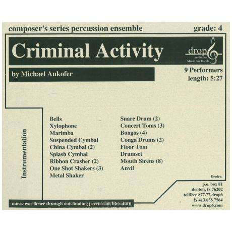 Criminal Activity by Michael Aukofer