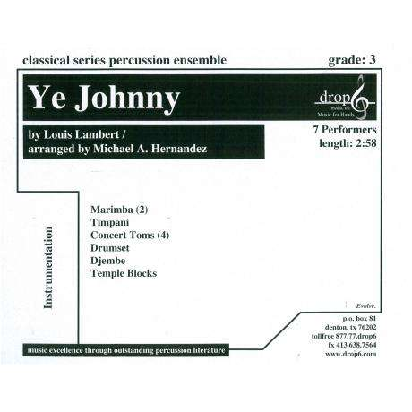 Ye Johnny by Johnny Lambert arr. Hernandez