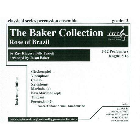 Rose of Brazil by Ray Klages and Billy Fazioli arr. Baker