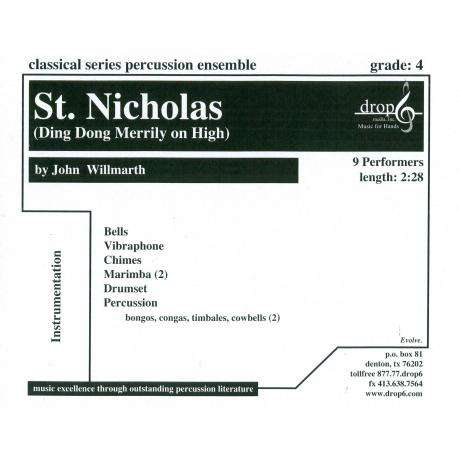 St. Nicholas (Ding Dong Merrily on High) arr. John Willmarth