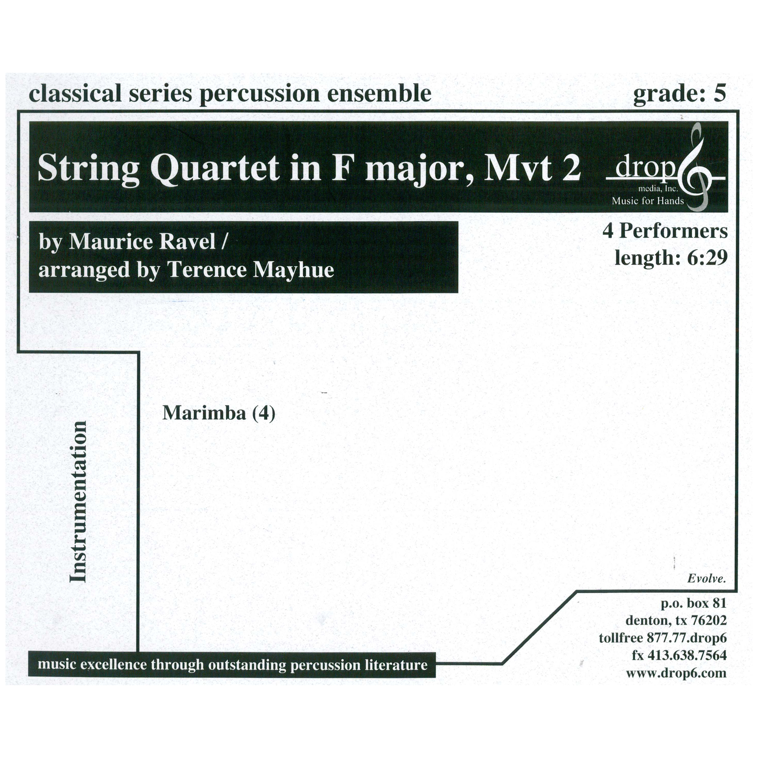 String Quartet in F, Mvt.2 by Ravel arr. Terence Mayhue