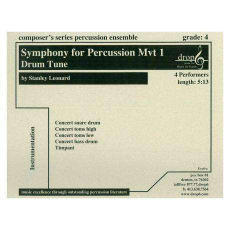 Symphony for Percussion, Mvt. 1: Drum Tune by Stanley Leonard