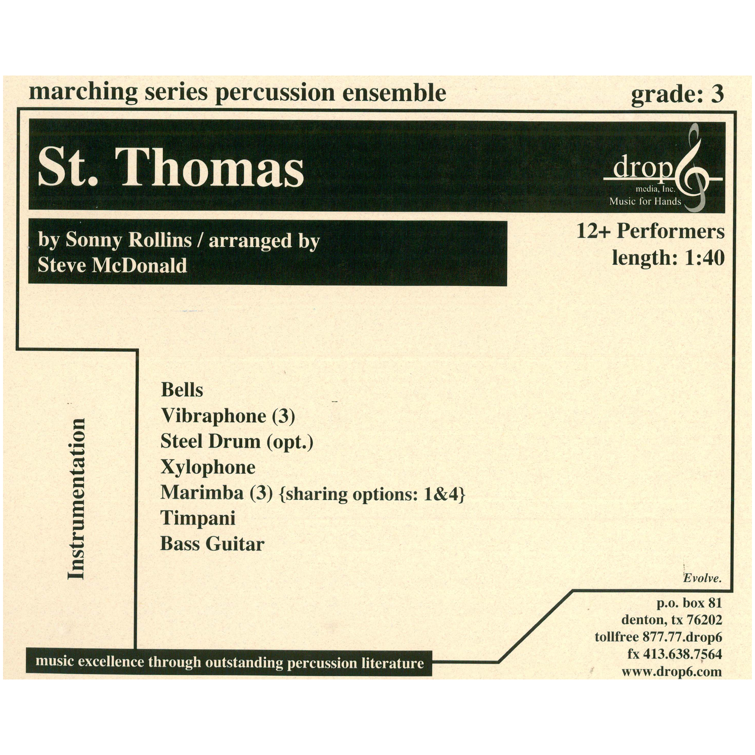 St. Thomas by Sonny Rollins arr. McDonald