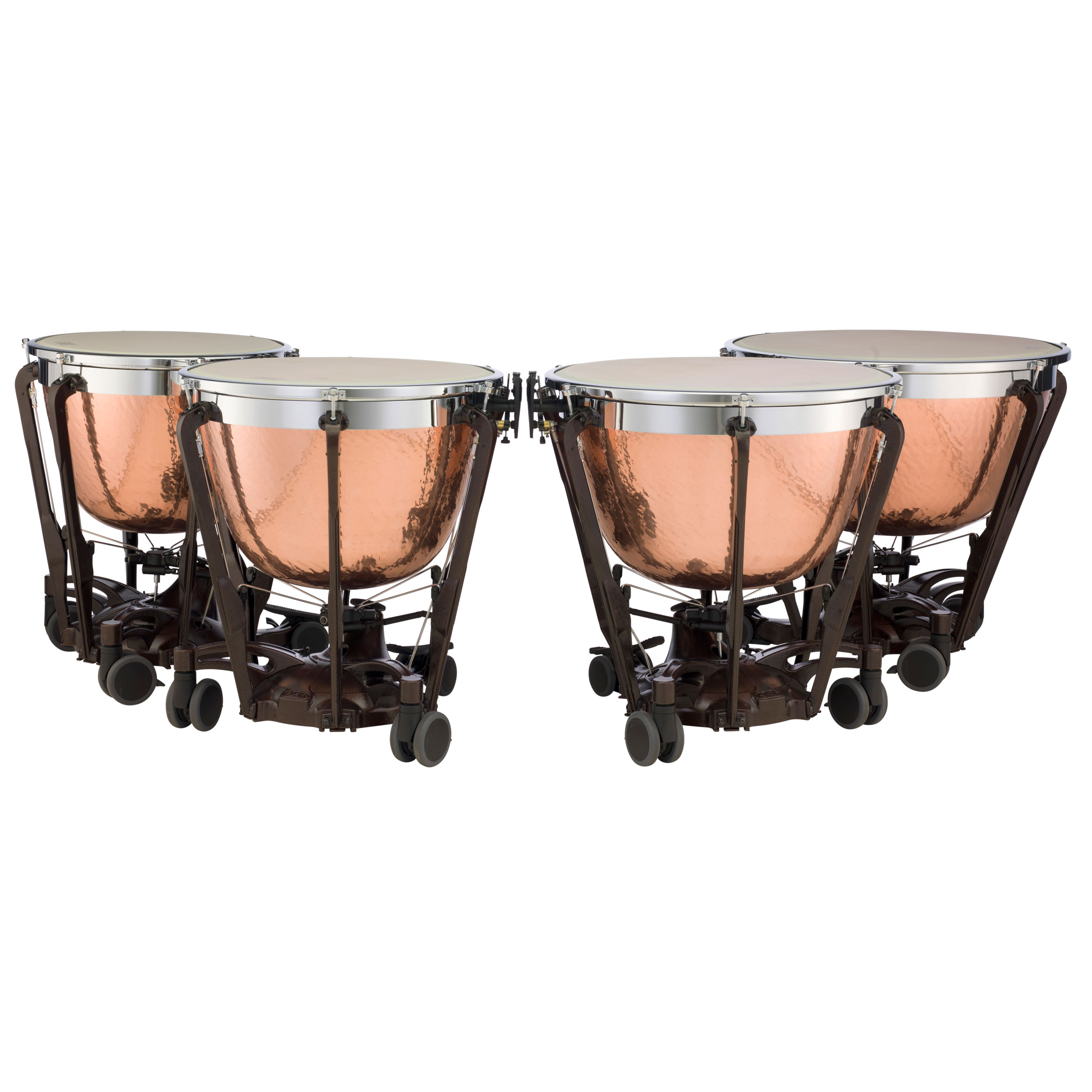 "Adams 23/26/29/32"" Professional Gen II Hammered Cambered Copper Timpani w/Tuners"