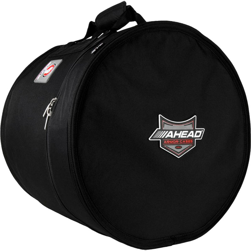 "Ahead 16"" (Deep) x 14"" (Diameter) Multi-Snare/Timbale Case with Two Padded Fleece Spacers"