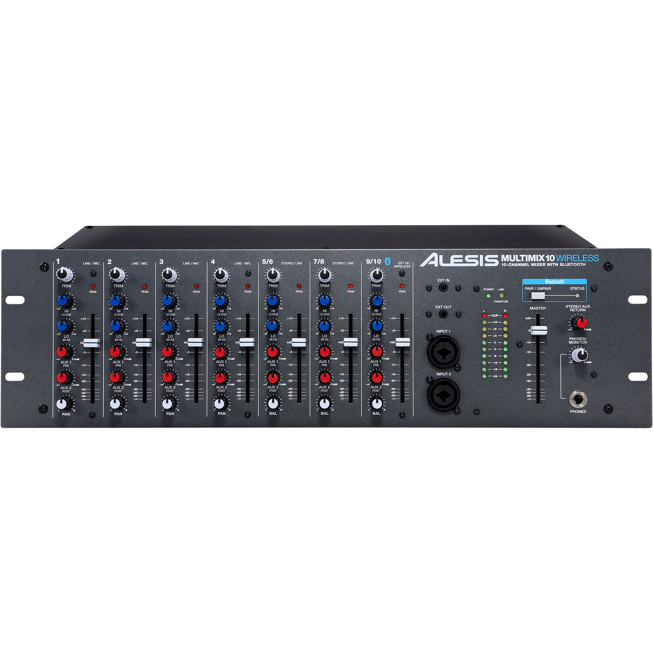 Alesis MultiMix 10 Wireless 10-Channel 3RU Bluetooth Mixer