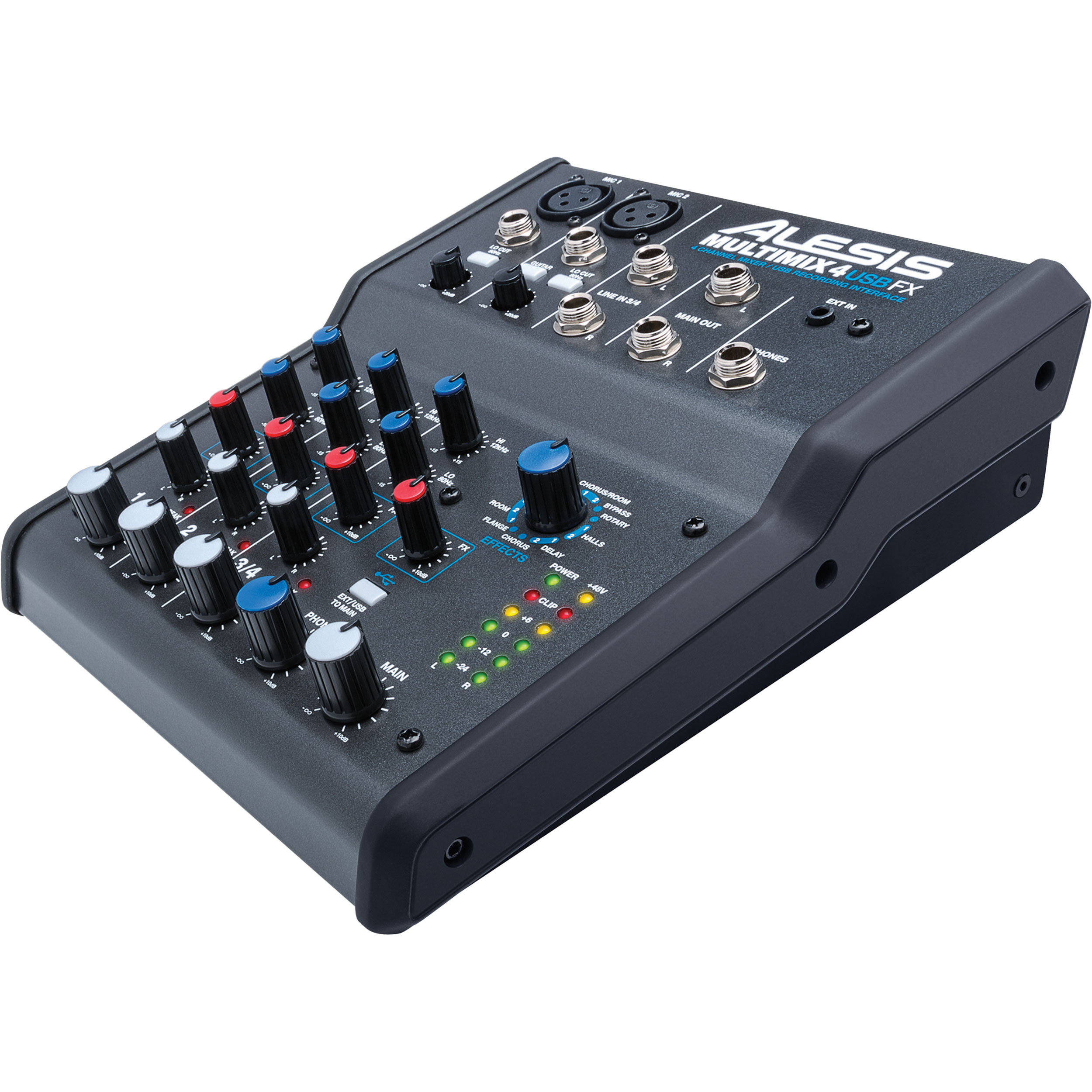 Alesis MultiMix 4 USB FX 4-Channel Desktop Mixer
