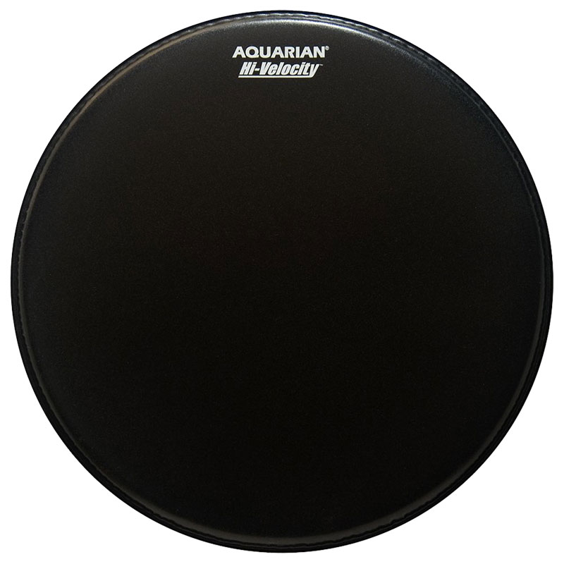 "Aquarian 14"" Hi-Velocity Black Snare Drum Batter Head"