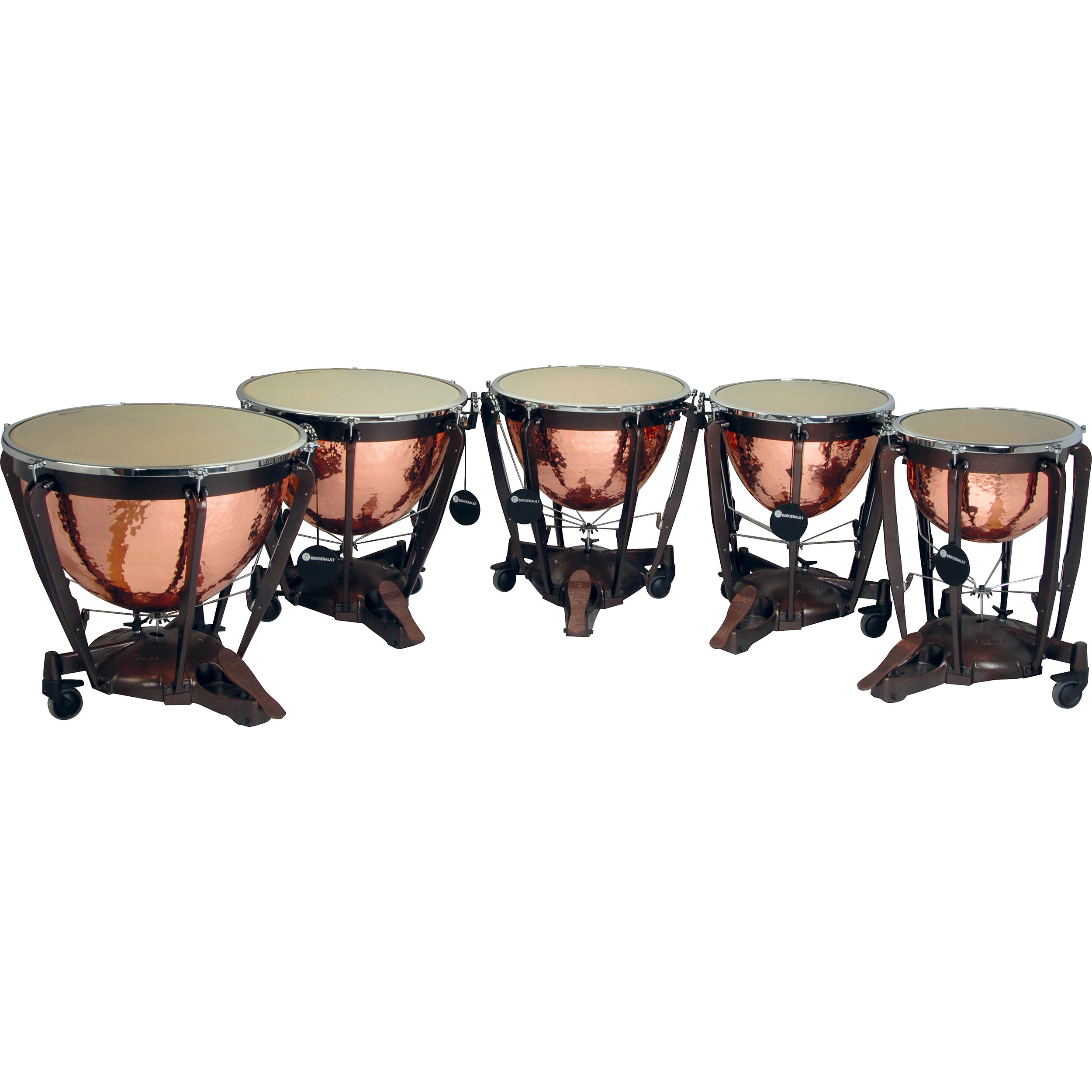 "Bergerault 5-Piece Grand Professional Series Parabolic Polished Copper Timpani Set (20/23/26/29/32"")"