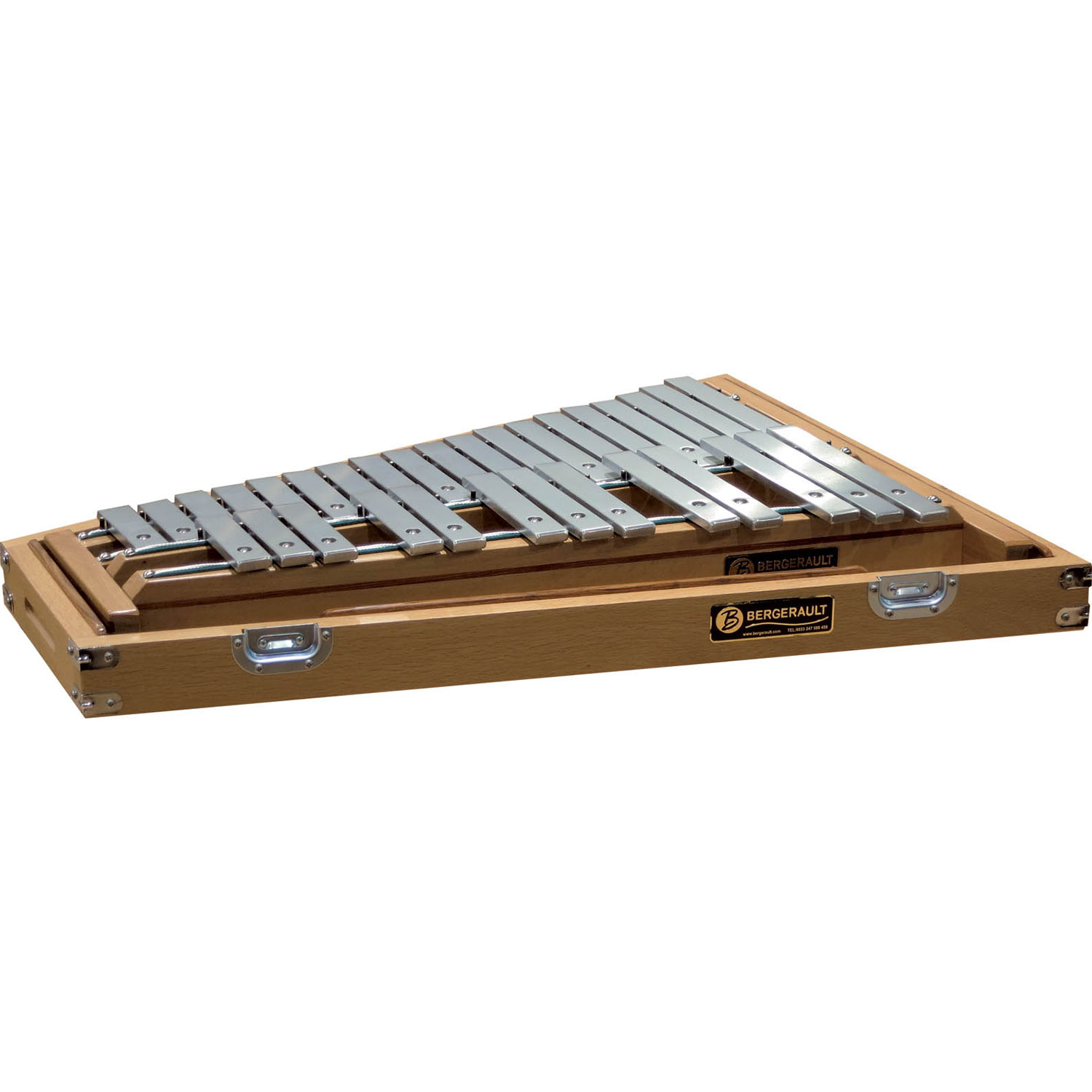 Bergerault 2.5 Octave Signature Series Glockenspiel with Oak Case