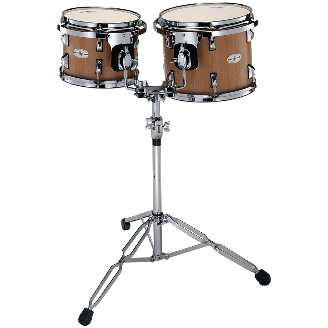 "Black Swamp 10/12"" Concert Toms with Double Tom Stand"