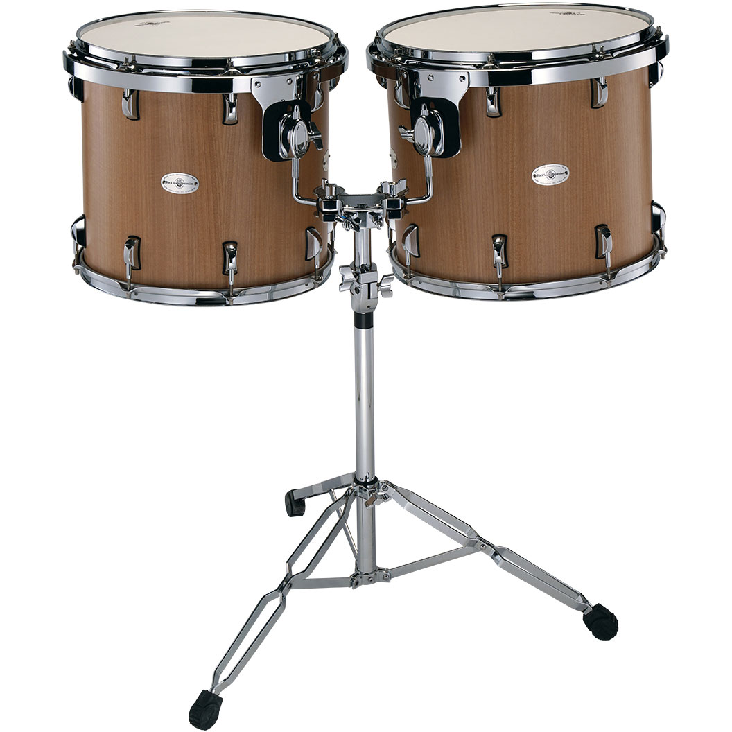 """Black Swamp 15/16"""" Concert Toms with Double Tom Stand"""