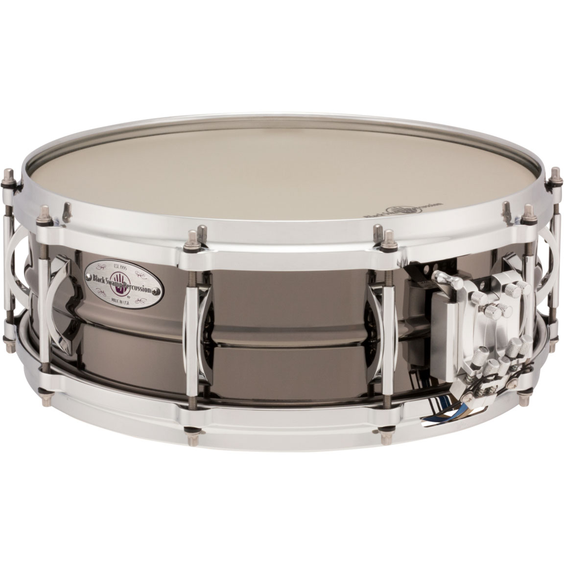 "Black Swamp 5"" x 14"" Multisonic Brass Concert Snare Drum"