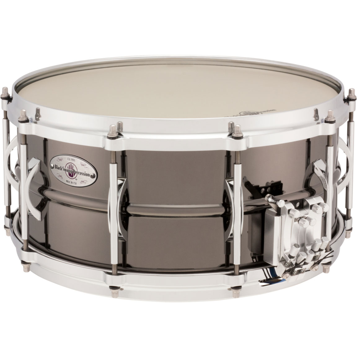 "Black Swamp 6.5"" x 14"" Multisonic Brass Concert Snare Drum"