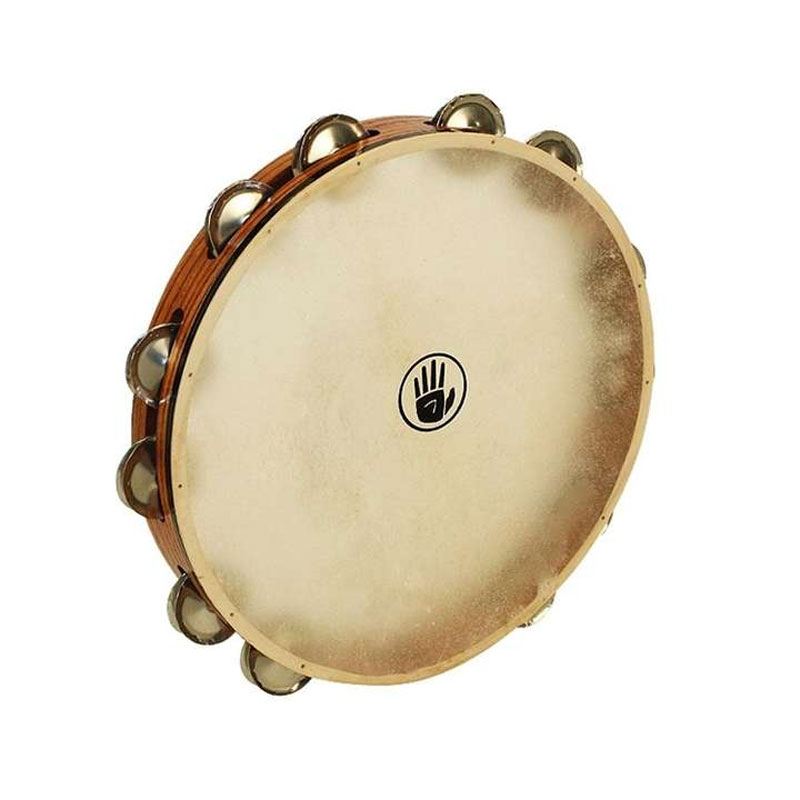 "Black Swamp 12"" SoundArt Single Row German Silver Tambourine (Natural Head)"