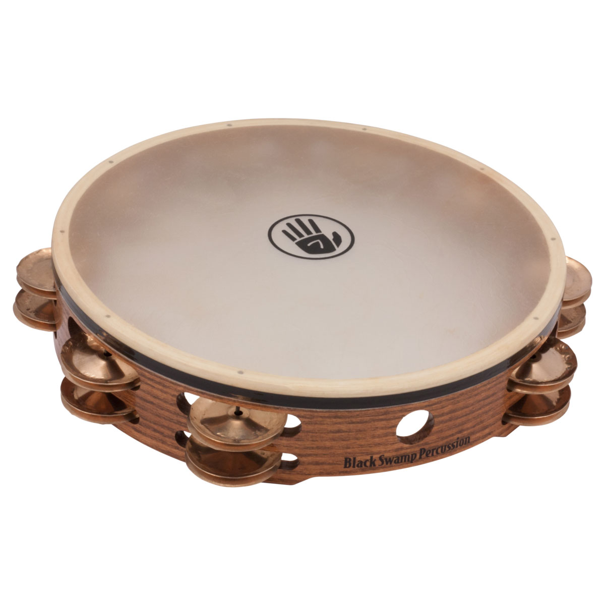 "Black Swamp 10"" SoundArt Double-Row Beryllium Copper Tambourine (Natural Head)"