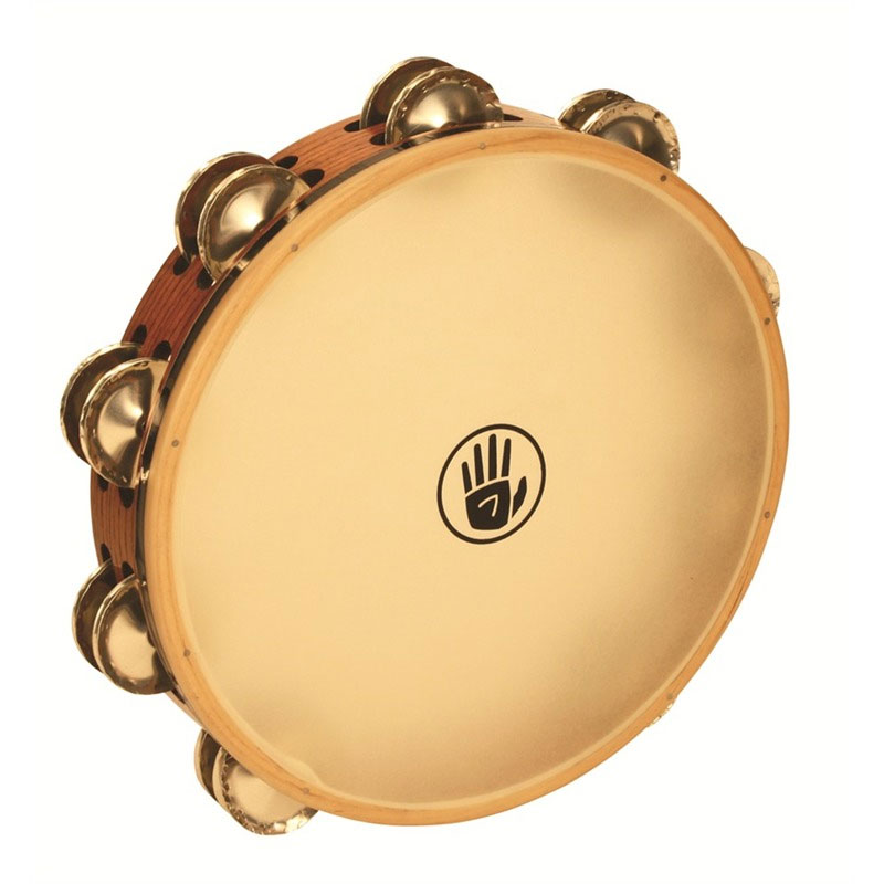 "Black Swamp 10"" SoundArt Double Row German Silver Tambourine (Synthetic Head)"